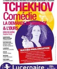 L'Ours, La demande en mariage, Anton Tchekhov, Lucernaire