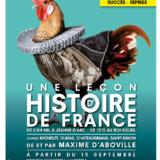 Une leçon d'histoire de France, Maxime d'Aboville, Poche Montparnasse